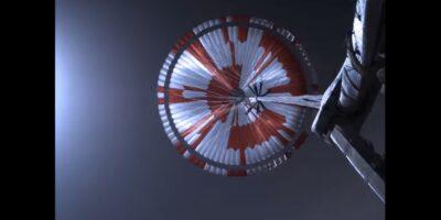 Nasa paracadute rover Perseverance Marte