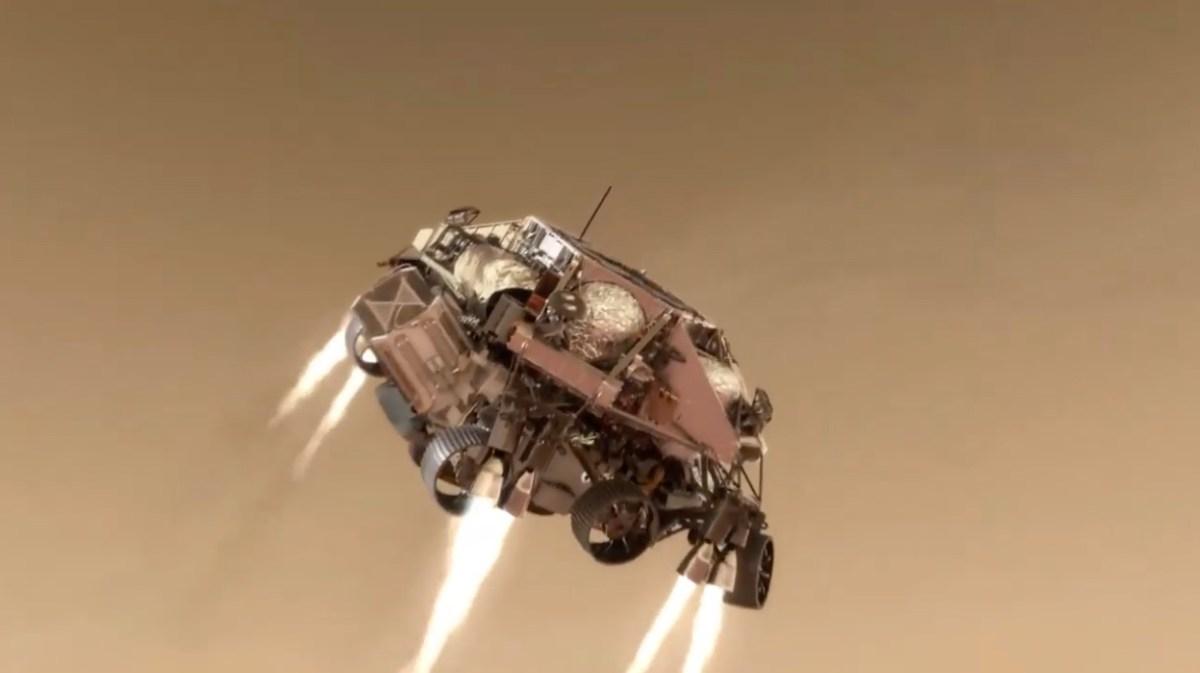 Video Nasa: l'atterraggio su Marte di Perseverance